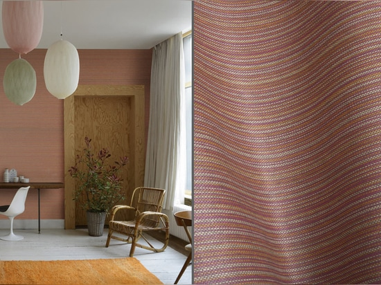 Striped wallpaper by Omexco