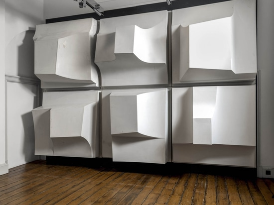 """Saved from the skip: Paul Mount's fibreglass relief is """"a dramatic, full-scale, radical opener for this exhibition"""". (© Historic England)"""