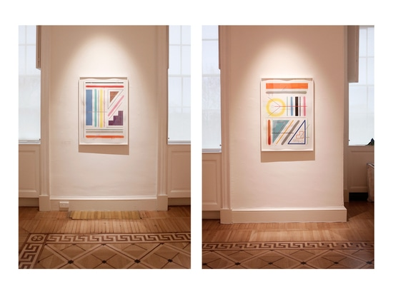 "Sixe Paredes, ""Untitled 2"" and ""Untitled 3"" on display at ""Venturing Beyond""."