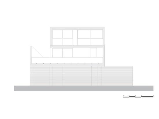 Pax-Arq, Casa Oficina, technical drawing, south elevation