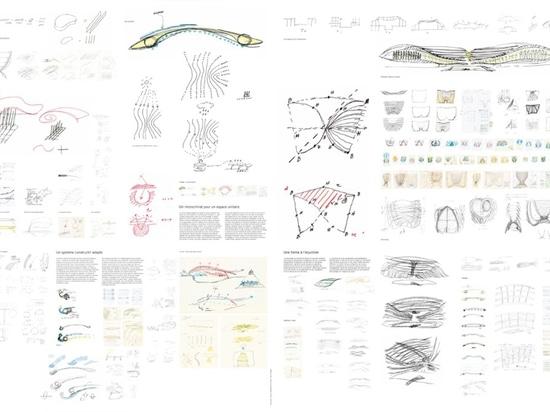 Berger Anziutti Architects, La Canopée des Halles. Sketches ©Patrick Berger