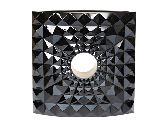 Mario Botta designs vase for Lalique's Crystal Architecture series