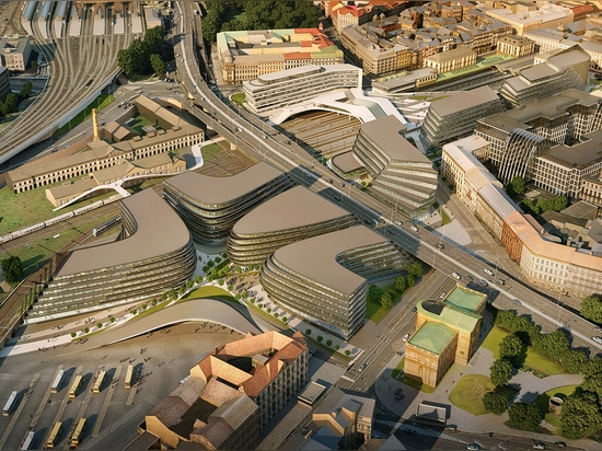 Zaha Hadid Architects presents plans for new Prague business district