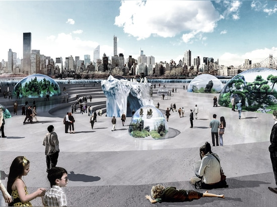 "Eight bubble-like ""biomes"" would host sealife from around the world"