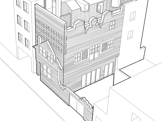 "The extension will feature a number of ""abstract elements"" including an extended chimney and angular window boxes"