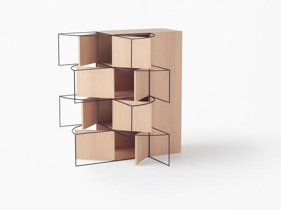 Nendo designs collection of movement-tracing furniture