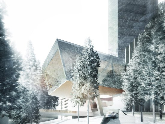 """Morphosis unveils plans for """"Minimalist"""" skyscraper next to Zumthor's Therme Vals"""