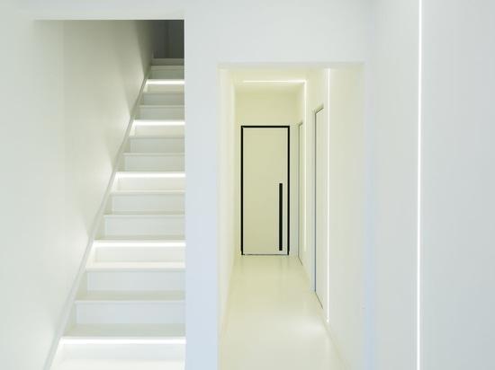 Modern interior doors with built-in handles