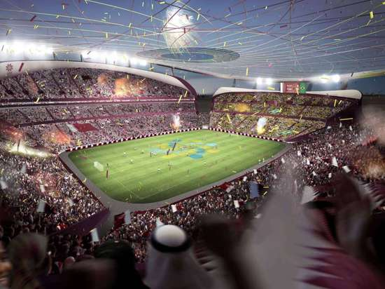 The previous design for the Lusail Stadium