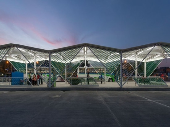 CAZA creates cebu city's new bus stations referencing basket weaving