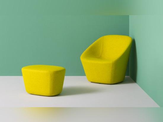 Log Lounge and pouf by Manuela Busetti, Andrea Garuti and Matteo Redaelli