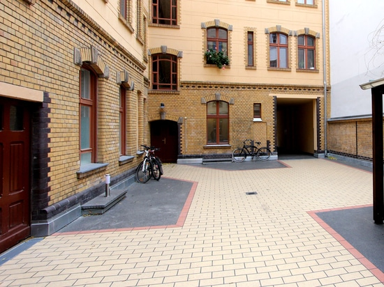 A courtyard with character