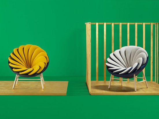 Marc Venot has designed a new chair with 14 overlapping pillows