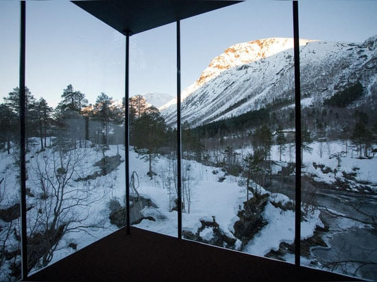Life, but perhaps not as you know it: a room at the Juvet Landscape Hotel in Norway. (All photos: Jensen & Skodvin Architects)
