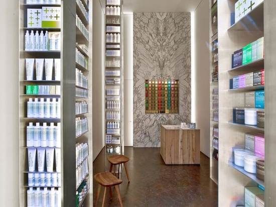 Messana O'Rorke uses wood, marble and concrete for Malin+Goetz's US stores
