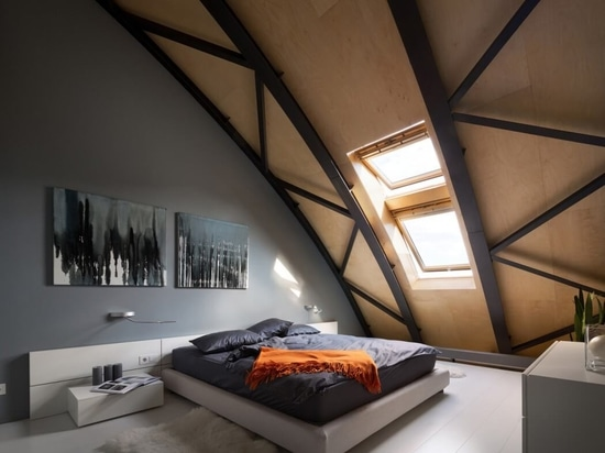 Project: custom-made bio fireplace in the stylish loft interior