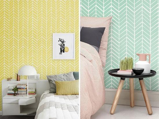 Feature Wall Design Idea – A Chevron Accent Wall