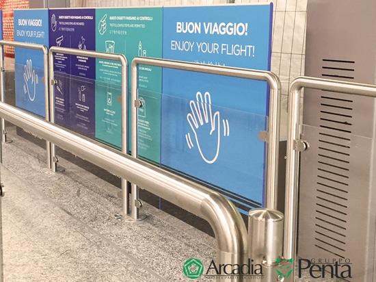 Arcadia lands at the Malpensa airport