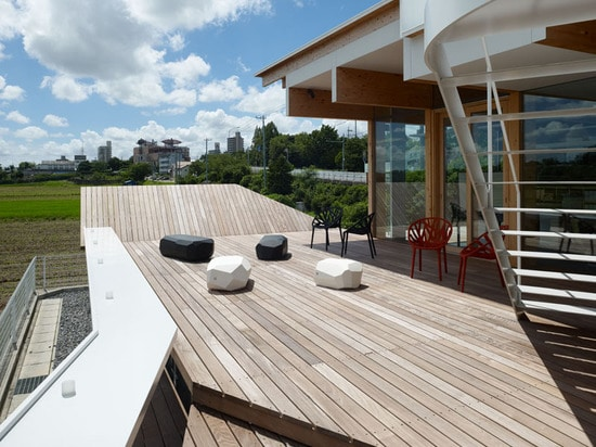 Wood deck office