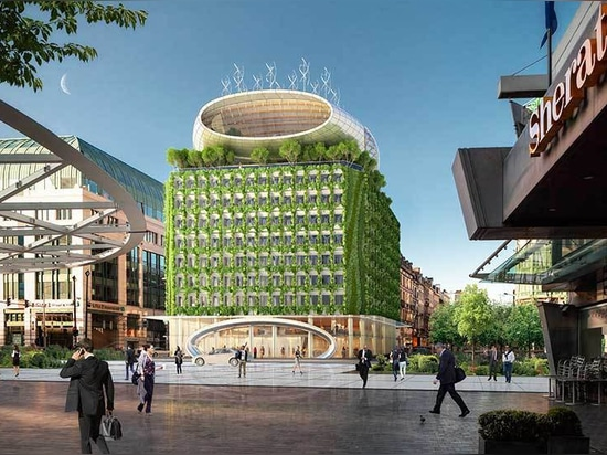 vincent callebaut proposes to clad brussels' botanic center with densely planted façades