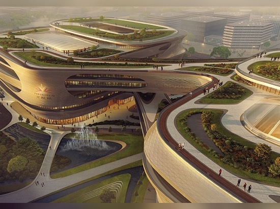zaha hadid architects' infinitus plaza in guangzhou, china breaks ground