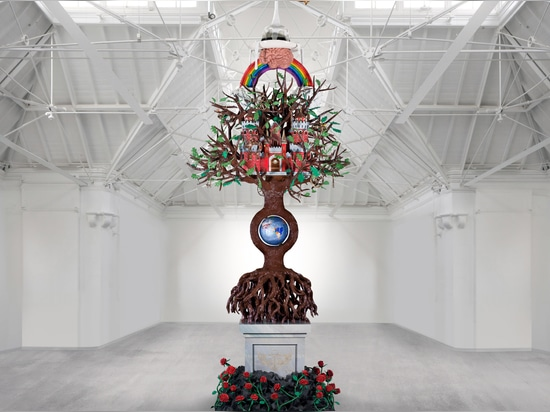 Studio Job installs Tree of Life outside OMA-designed Faena Forum