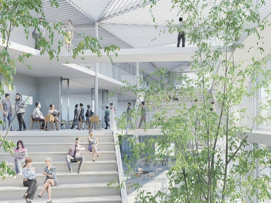 the 10,000 square meter complex will host 150 members of staff and 2,000 students