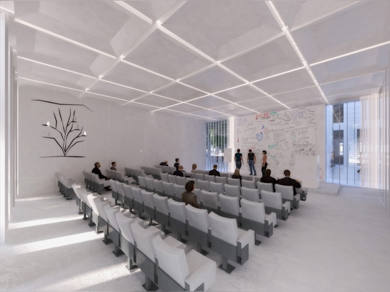 the scheme contains several lecture halls and numerous classrooms
