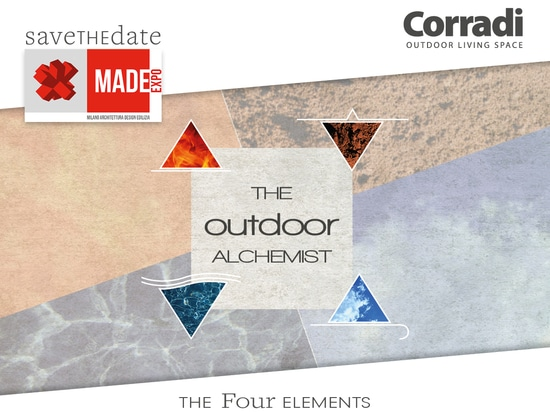 Corradi at MADE Expo: an area inspired to the alchemy in the Four Elements.