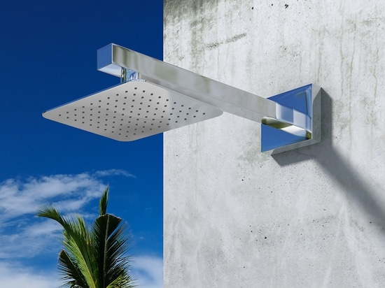 Ischia Q - Stainless steel nautical outdoor shower for swimming pool and garden