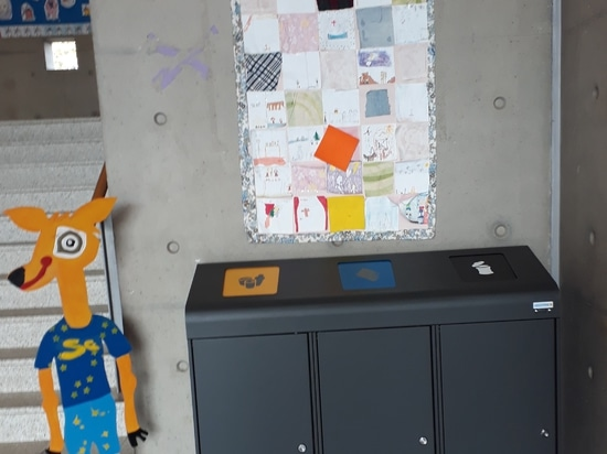 Luxembourg European School equipped with Berlin recycling bins