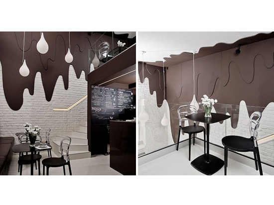 This Chocolate Shop And Cafe Has Walls Of Dripping Chocolate