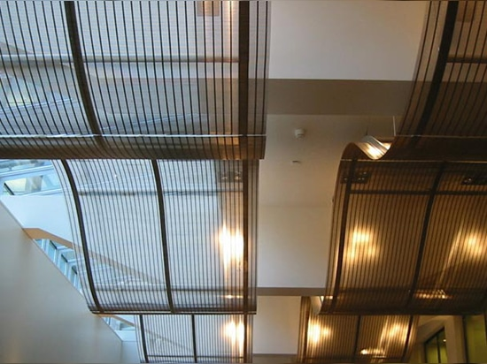 Acoustic ceilings made of composite mesh