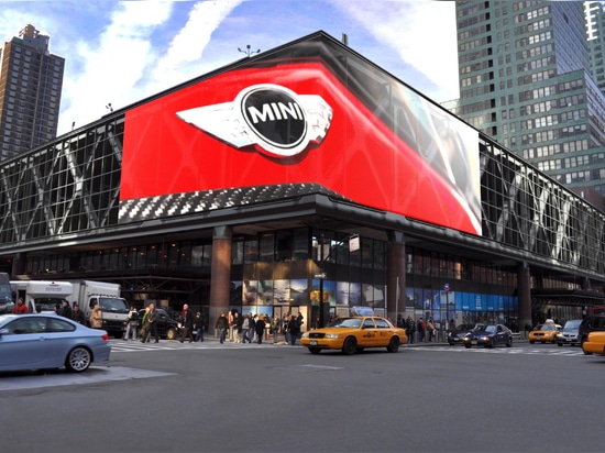 Largest Mediamesh® facade in the world at Port Authority Bus Terminal
