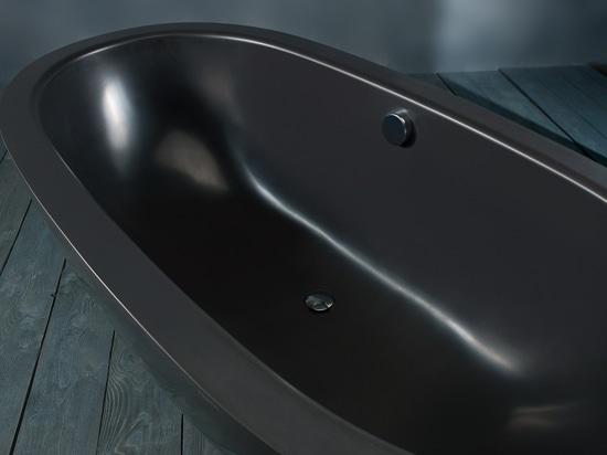 KAROLINA - a stylish black stone bathtub