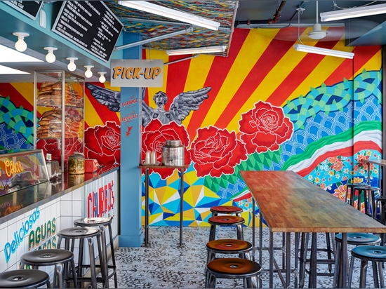 sandwich shop in toronto by +tongtong mimics mexican streetfood stands