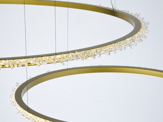 Halo crystal chandelier