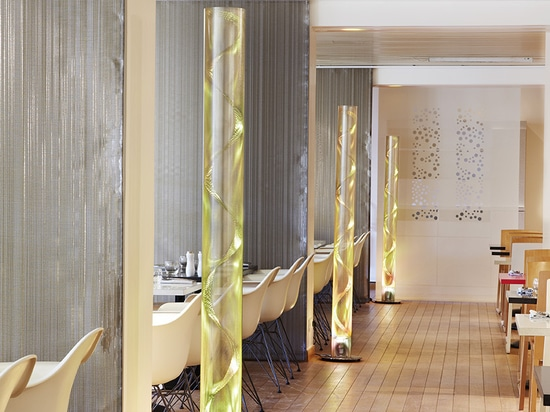 Thierry Vidé's lighting product in the restaurant of Grand Palais in Paris