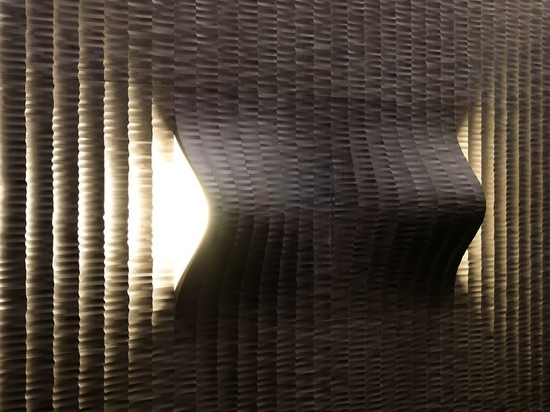 """Our """"tratto"""" covering with the """"Coni Luce"""" complements."""