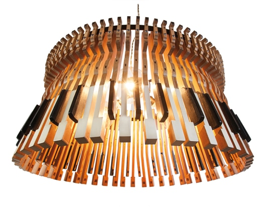 Piano lamp, bespoke design for for architectural projects, interior designs and decoration