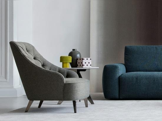 Emilia capitonné armchair