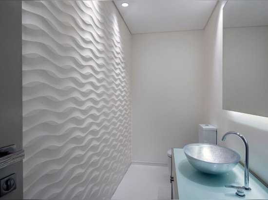 "A residential project by ACC Interiors with our ""lembo"" interior stone wall panel"