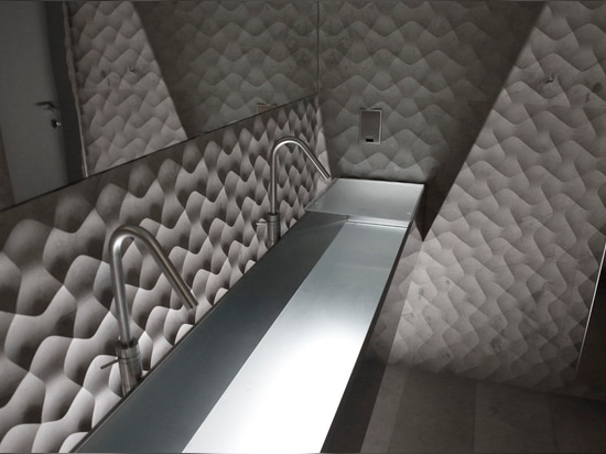 "The ""Villa A"" project by OMA with our ""terra"" stone wall panel"