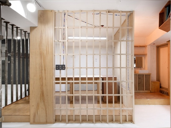 studio starsis models its latest office space in seoul like a construction site