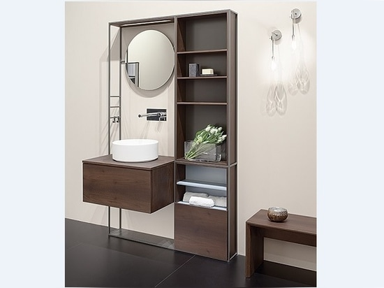 Lay in Acacia with Tecnoril washbasin