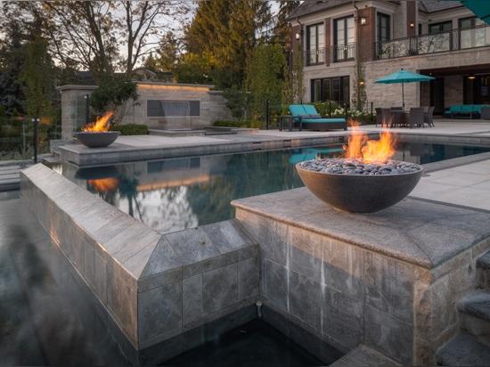 Miso concrete fire bowls