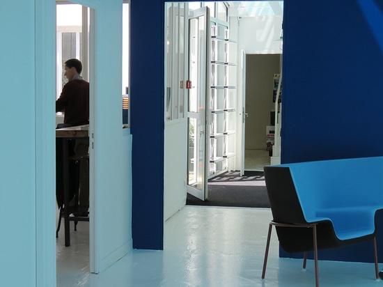 Corridor and VIP area La Berangerie Pantin