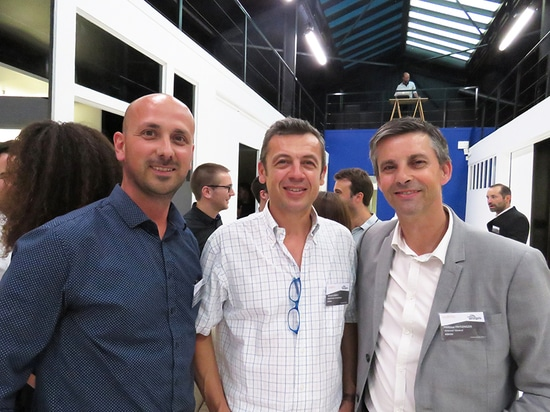 Edgar Pinto Sales representative for control systems, Gerard Gaget Evaporative cooling Manager and Philippe Fritzinger Managing Director for Adexsi