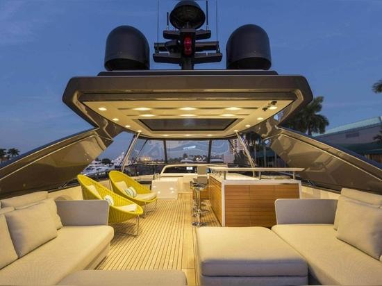 Sanlorenzo 86 yacht by Marty Lowe Interior Design