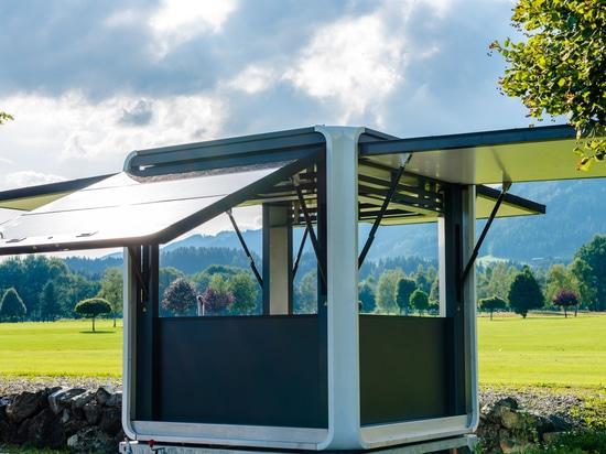 Solar powerd modern Kiosk